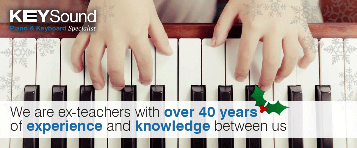 With over 40 years of teaching experience we are sure we can get  the right piano or keyboard for you