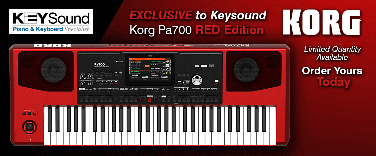 Exclusive to Keysound Korg PA700 Red Edition