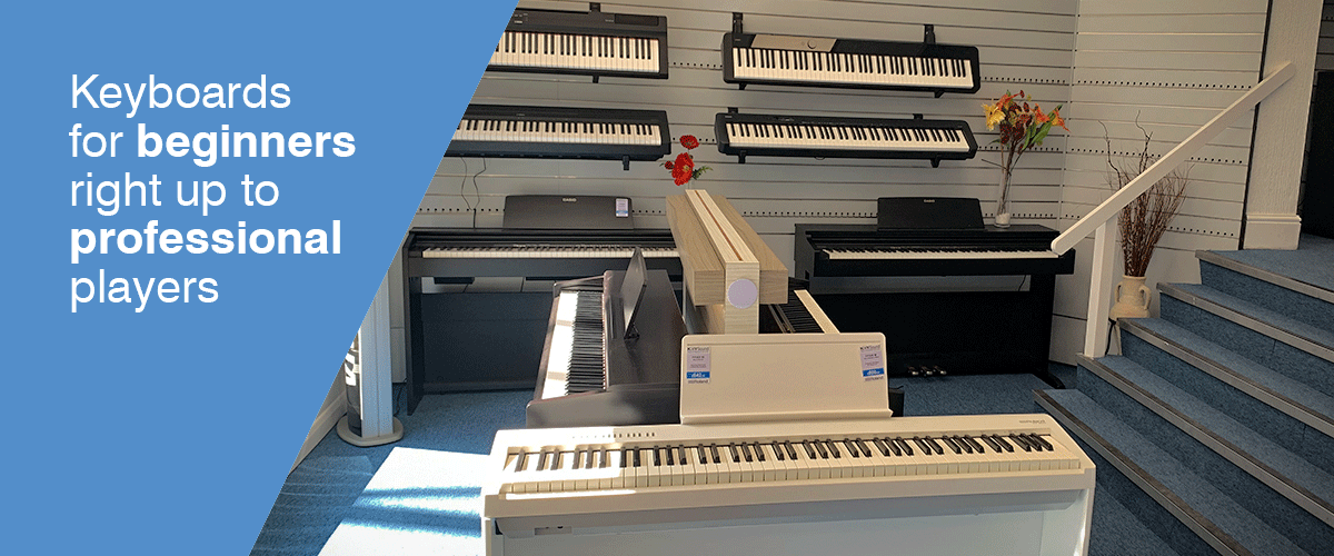 Try all keyboards from all major brands including Roland, Yamaha, Korg and Casio. Keyboard for all use from a beginner to the professional musician