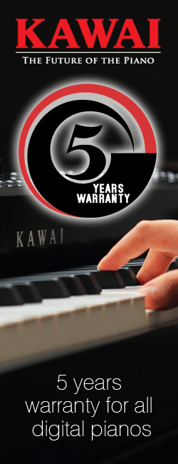 All Kawai Digital pianos, now with 5 year warranty