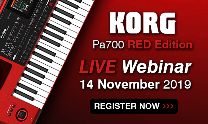 Registrer for the Korg PA700 limited edition webinar