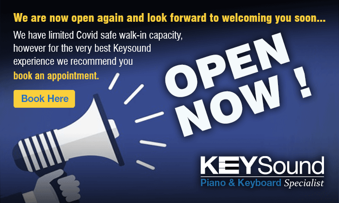 We are open. Book an appointment to get the very best keysound experience