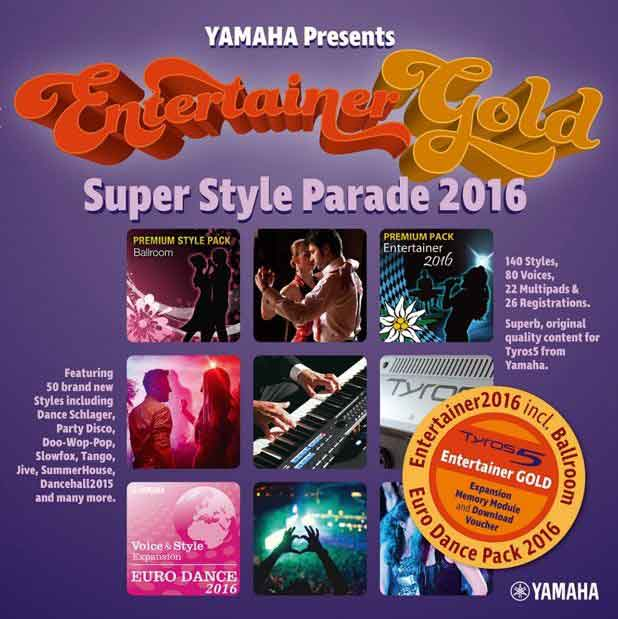 Announcing the new Tyros5 'Entertainer Gold' Super Style Parade 2016