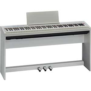 Roland FP30 Digital Piano Includes Stand and Pedal Unit in White