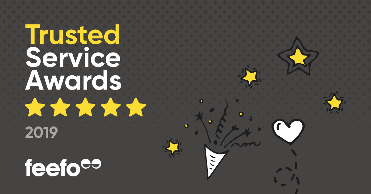Keysound Won The Feefo Gold Trusted Service Award 2019