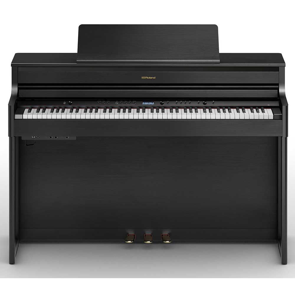 Roland HP704 Digital Piano in Charcoal Black