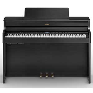 >Roland HP704 Digital Piano in Charcoal Black