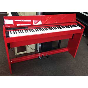 Roland Pre-Owned F110 Digital Piano in Polished Red