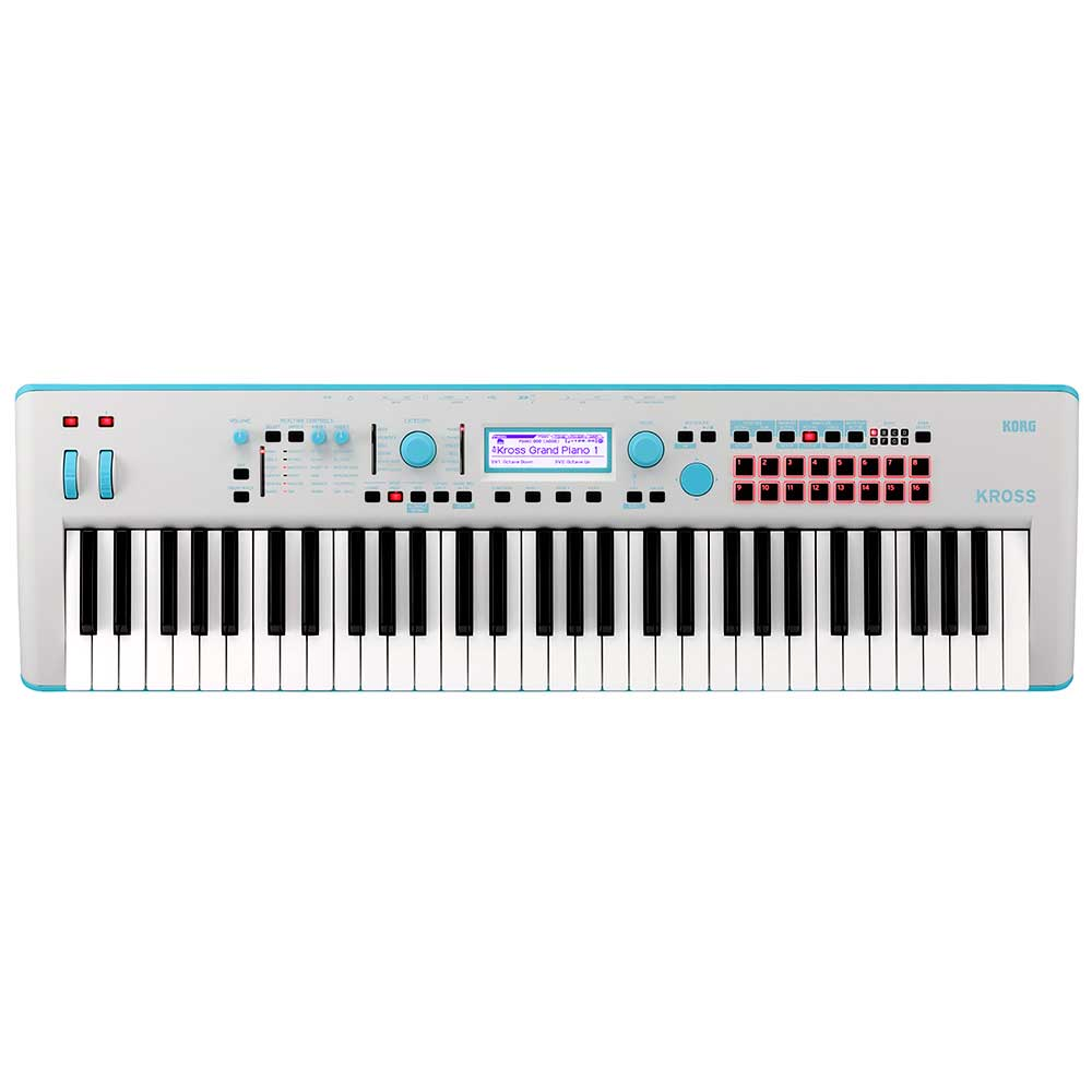 Korg Kross2 61 Synthesizer Workstation in Gray Blue