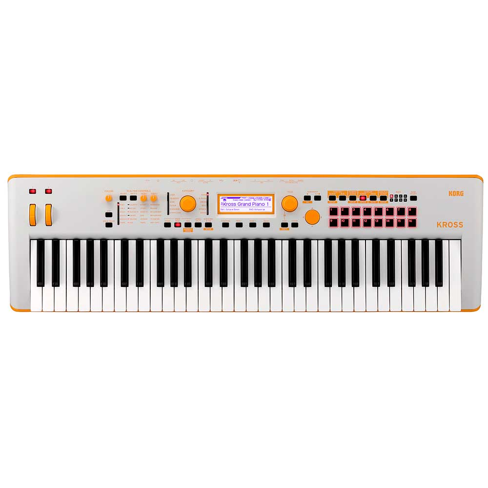 Korg Kross2 61 Synthesizer Workstation in Gray Orange