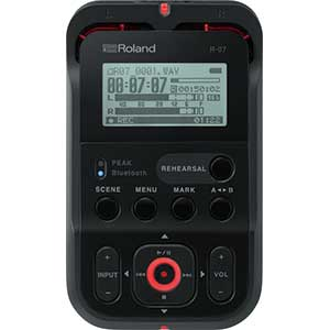 Roland R07 High Resolution Portable Recorder in Black