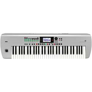 Korg i3 Music Workstation in Matt Silver