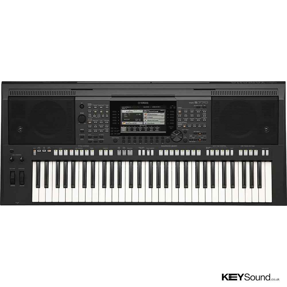 Yamaha PSRS770 Arranger Workstation in Black