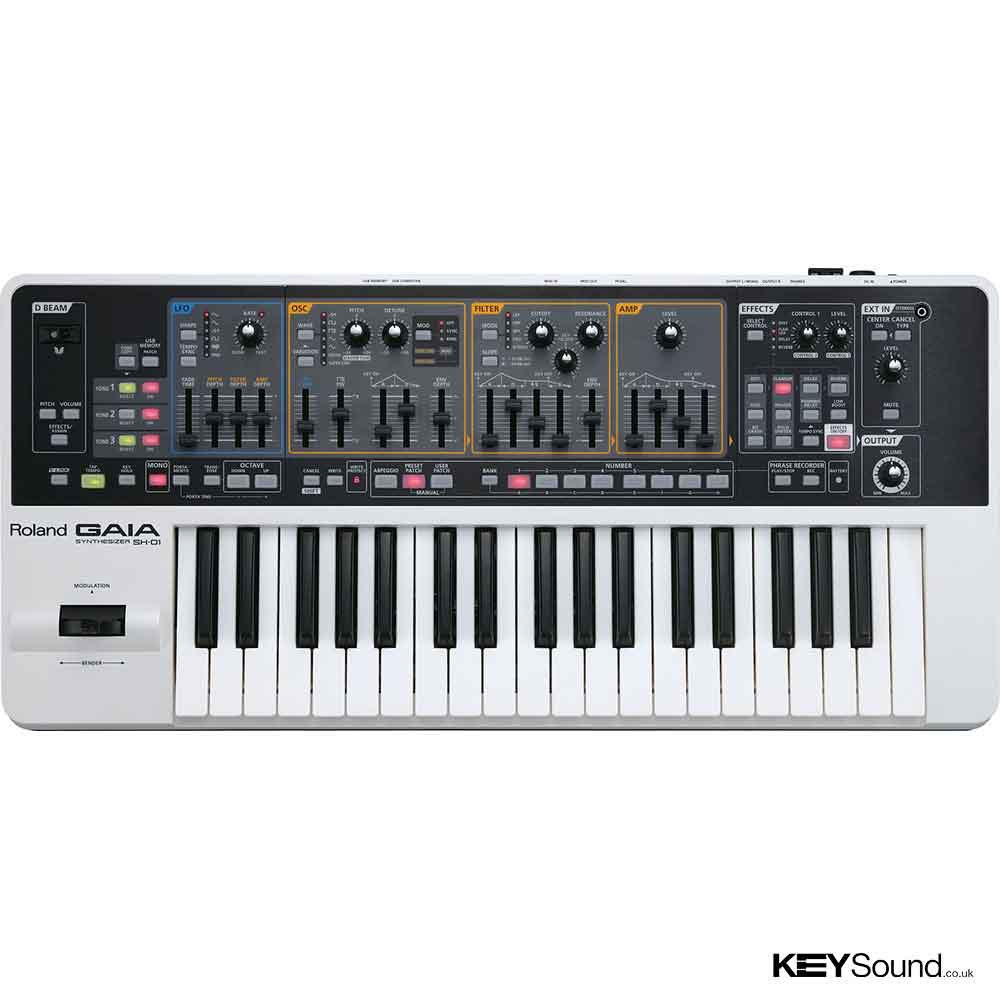 Roland Gaia SH01 Synthesizer in White