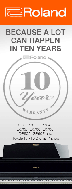 Roland Give 10 Year Warranty With HP504, HP605, LX7, LX17 and HPi50e Digital Pianos